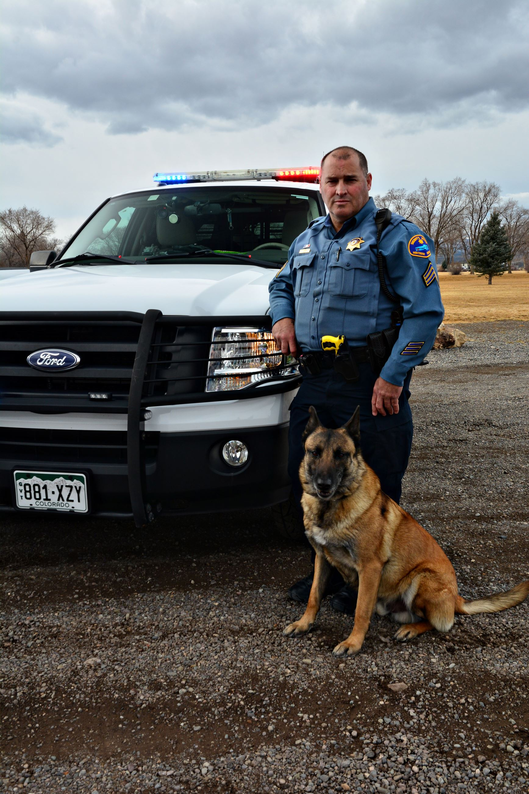Sgt. Sanders and K-9 Oxx