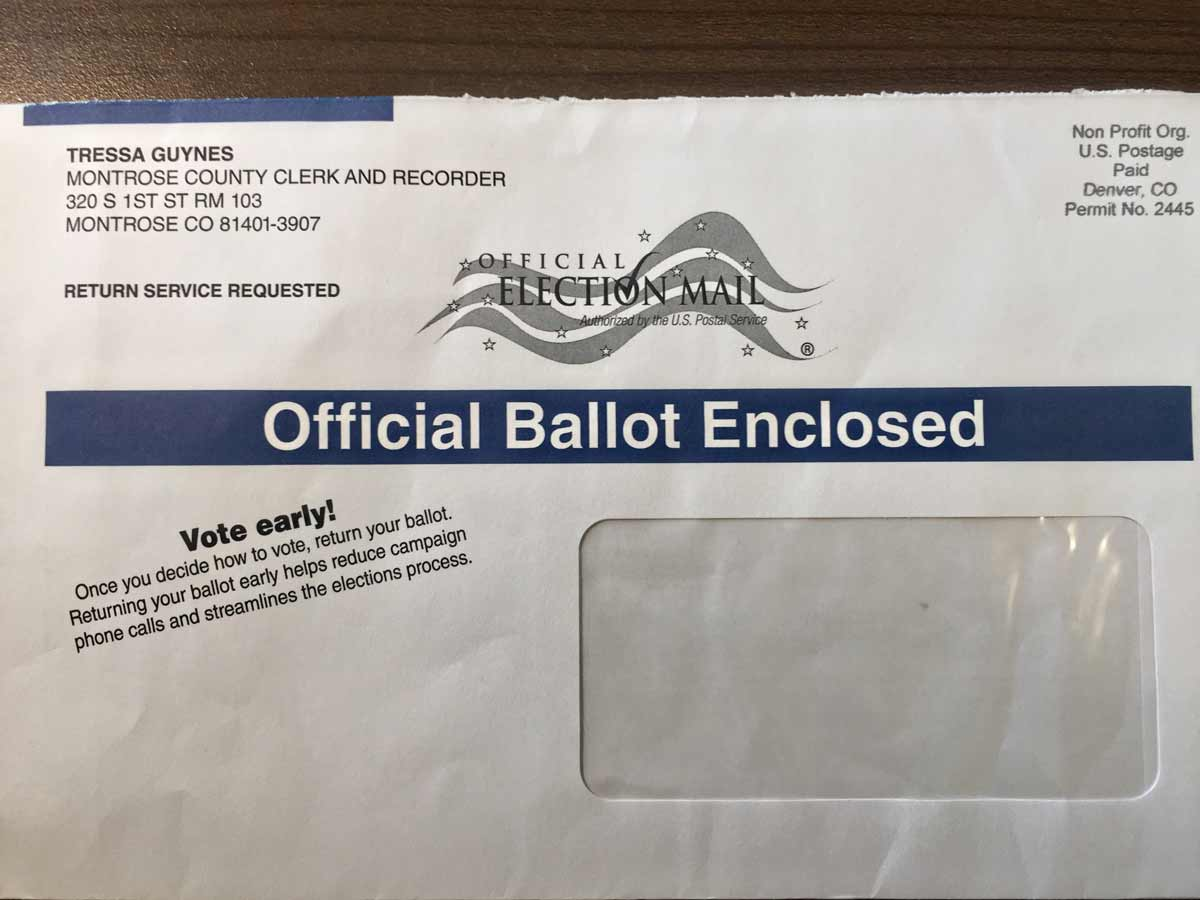 Official Ballot Envelope